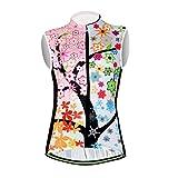 Aogda Cycling Vests Jerseys Women Bike Shirts Sleeveless Clothing Ladies Biking Shorts Bicycle Tights (01A, Large)
