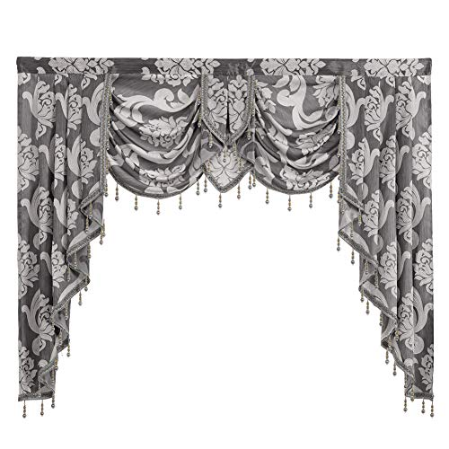 NAPEARL European Style Luxury Waterfall Valance Living Room Window Decoration (1 Valance 61