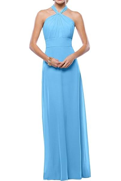 Amazon vestido azul celeste