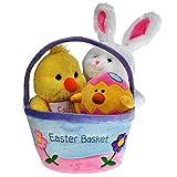 Easter Plush basket X- LARGE for kids of all ages. Set includes Easter BUNNY, Easter EGG, CHICK, Easter BASKET