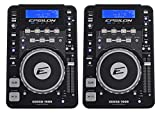 (2) EPSILON CDUSB-7000 Tabletop DJ Scratch CD/MP3/USB Digital Turntable Players