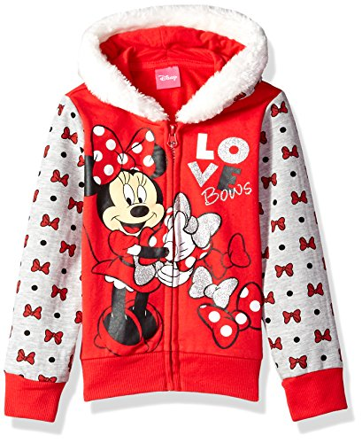 disney-girls-minnie-mouse-zip-up-hoodie-with-faux-fur-trim