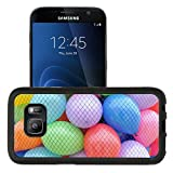 MSD Premium Samsung Galaxy S7 Aluminum Backplate Bumper Snap Case some multicoloured toy balloons in a net IMAGE 19052858