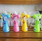 batman ceiling fan blades - mk. park - New Mini Handheld Fan Portable Cooler Water Spray Cute Giraffe Air Cooling (Green)