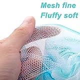 Aquior Bath Sponge Shower Loofahs Mesh Pouf Body