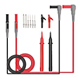 12 in 1 Super Multimeter Probe Test Lead Kit with Alligator Clips , LIUMY Replaceable Automotive Multimeter Leads , Clamp Meter Leads, Electronic Universal Multimeter Test Leads