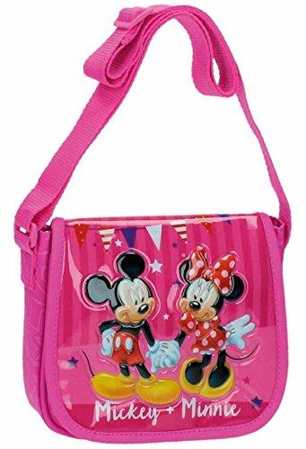 Disney Mickey & Minnie Party Borsa Messenger, 17 cm, 1.02 Litri, Rosa
