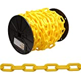 CAMPBELL 0990837 Plastic Chain on Reel, 8 Trade, 0.30-Inch Diameter, 60-Feet Length, Yellow