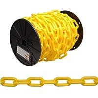 """Campbell 0990837 Cadena de plástico en carrete, comercio # 8, 0.30 """"de diámetro, 60 'de largo, amarillo"""