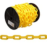 Campbell 0990837 Plastic Chain on Reel, 8 Trade, 0.30'' Diameter, 60' Length, Yellow