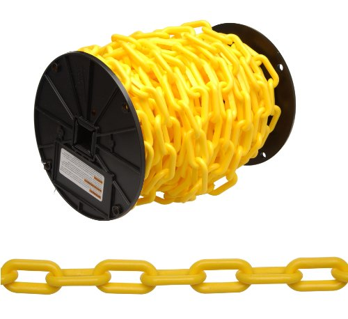 Campbell 0990837 Plastic Chain on Reel, 8 Trade, 0.30'' Diameter, 60' Length, Yellow by Apex Tool Group