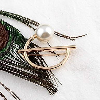 Ogquaton - Broche de lazo con perla para corbata prefijado al ...