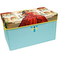 Elena Collapsible KidsToy Storage Chest by Disney - Flip-Top Toy Organizer Bin for Closets, Kids Bedroom, Boys & Girls Toys - Foldable Toy Basket Organizer with Strong Handles & Design