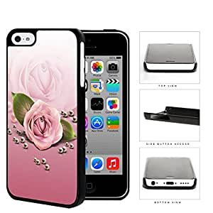 Rose Flower And Pearls In Pink Gradient Hard Plastic Snap On Cell Phone Case Apple iPhone 5c