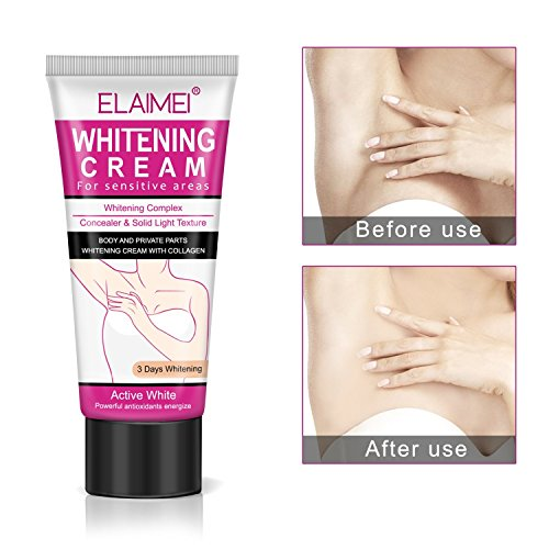Natural Whitening Underarm Cream, Armpit Lighting and Bikini Intimate Bleaching, Crotch and Nipple Whitening Pinkish, Elbow Knee Ankle Brightening for Hyperpigmentation Treatment