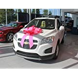 """30"""" Magnetic Car Bows - Pink"""