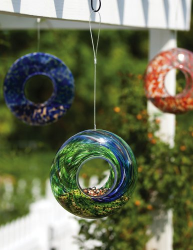 Evergreen Enterprises EG2BF245 Glass Speckle/Swirl Circle Feeder, Assorted 3 pcs by Evergreen