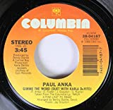 Paul Anka 45 RPM Gimme the Word (Duet with Karla DeVito) / No Way Out