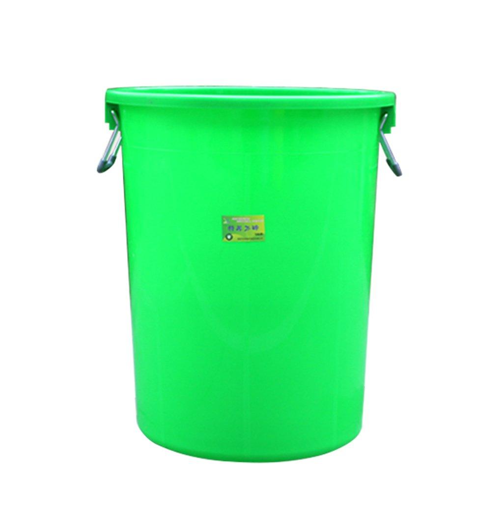 TGG 衛生ゴミ箱、大きなプラスチック円形ゴミ箱ホテルキッチン産業特性大容量覆われた厚い貯蔵バケツ100L 清潔できちんと (色 : 緑) B07DK9HKDQ 11299 緑 緑