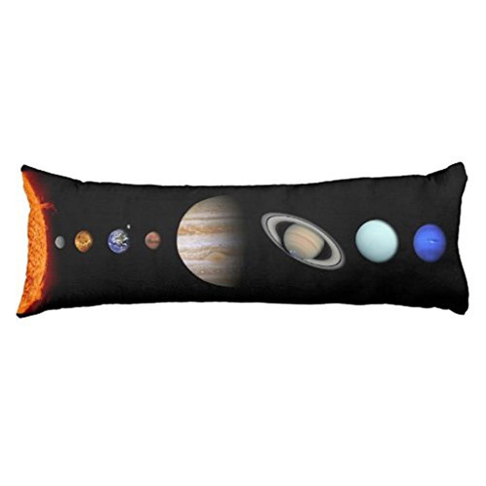 EllaOSlea Home decorate Solar System Inline Outer Space Body Pillow Covers Cases With Double Sided 20x54