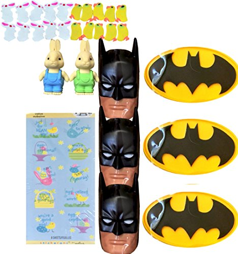 Batman Easter Egg Containers With Sticker Sheet & Bonus Easter Erasers
