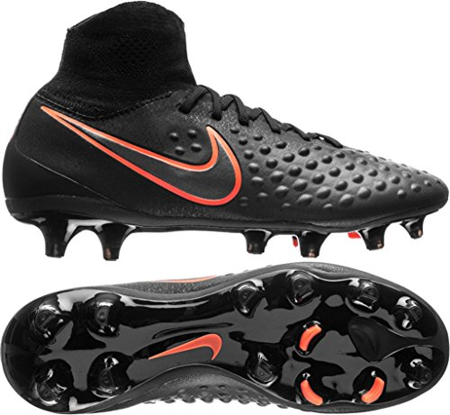 Nike Heren Magista Obra Ii Fg Zwart / Zwart / Total Crimson Soccer Shoes Black / Black / Total Crimson)