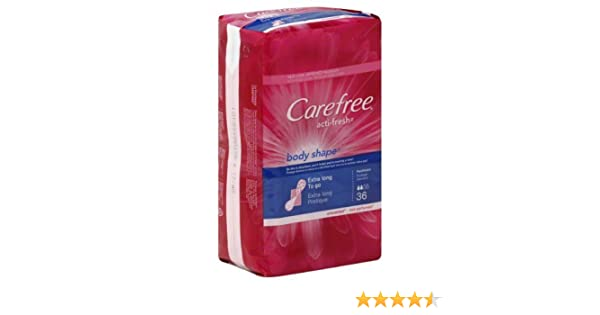 Amazon.com : Carefree Pantiliners, To Go, Extra Long, Unscented 36 ct (Pack of 8) : Feminine Hygiene Product : Grocery & Gourmet Food