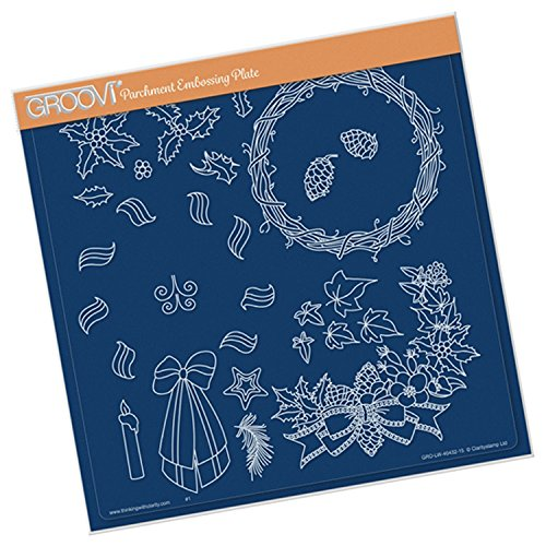 Groovi Claritystamp ~ Woven Wreath Plate A4 Square, GRO40432 by Groovi
