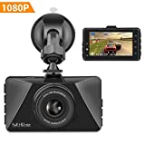 Dash Cam, TIMPROVE Car Camera FHD 1080P 3 Inch Screen 140 Wide Angle Dashboard Camera Recorder with Built-in Night Vision, G-Sensor, WDR, Loop Recording, Motion Detection, and Parking Monitor