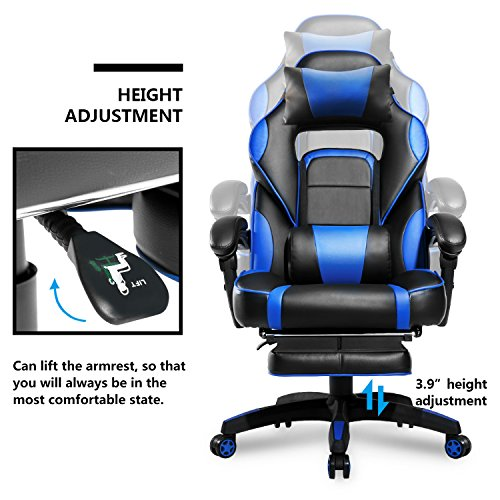 Merax High Back Racing Home Office Chair Ergonomic Gaming Import It All