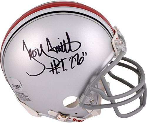 Troy Smith Ohio State Buckeyes Autographed Riddell Mini Helmet with