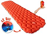 CampBro Inflatable Backpacking Camping Sleeping Pad - Connectable For 2 or 1 Person Air Mattress, Ultralight Mat