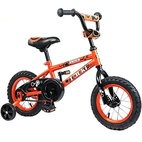 Tauki Kid Bike BMX Bike for Boys and Girls, 16 Inch, Orange, 95% assembled, for 4-8 Years Old