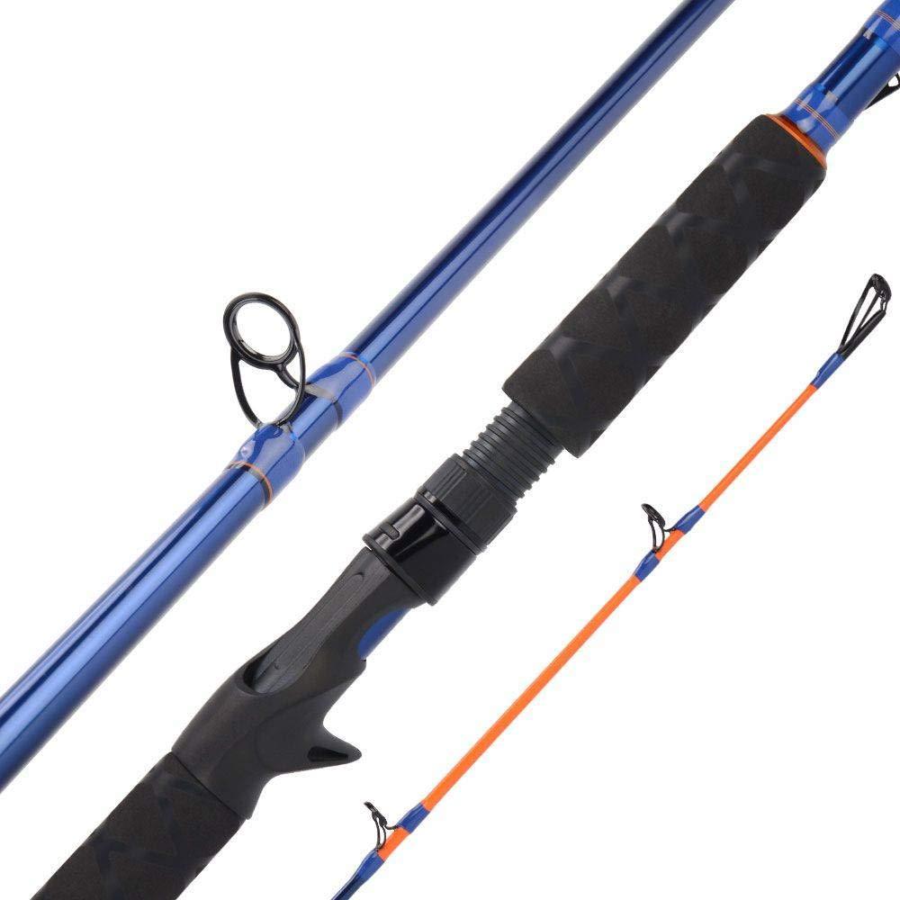 2.21m  FISHYY Canne à Pêche Canne à Pêche De Fonte De Corps De voiturebone 24T + 30T 2.21M 2.28M H H Xh Power Baitcasting Rod pour Pôle De Pêche Snakehead