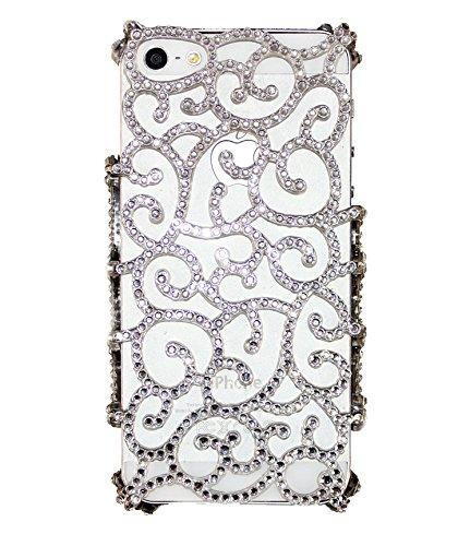 Uunique Elite Deko Reveal Hard Shell Case für iPhone 5/5S, Weiß
