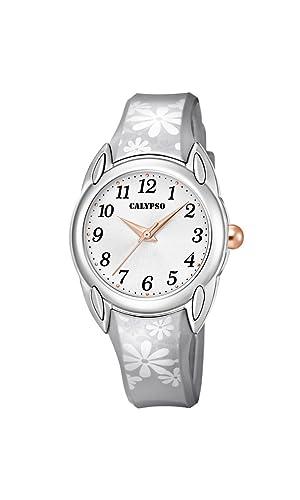 Calypso Reloj Análogo clásico para Mujer de Cuarzo con Correa en Plástico K5734/1: Amazon.es: Relojes