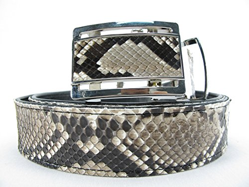 PELGIO Genuine Python Snake Skin Auto Locking Men's Belt 46