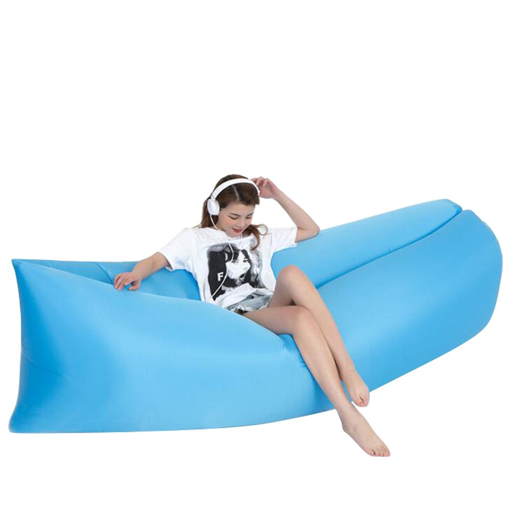 Air Lounger, MALLCROWN Inflatable Lounger Bag Ripstop,Inflatable Sofa Perfect for Travelling, Camping, Beach and Pool! Used as Air Chair, Hangout Sofa, Couch, Hammock, with carry bag