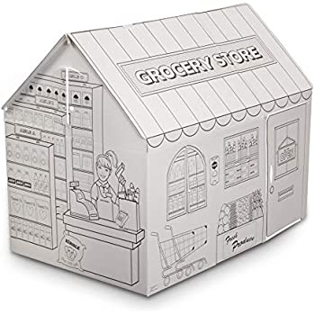 Amazon.com: My Very Own House Cardboard Coloring Playhouse ...