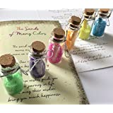 Smiling Wisdom - Sands of Many Colors Wisdom Wishes Gift Set - 6 Bottles with Colored Sand & Message - Greeting Card - Heartfelt Edition - Teen Son Daughter from Mom or Dad, 2018 Grad
