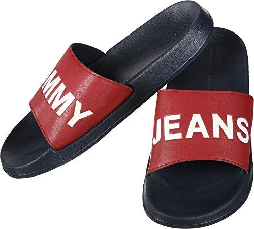 Tommy Jeans Sandalias de Vestir Para Hombre Rojo Rojo rojo y azul