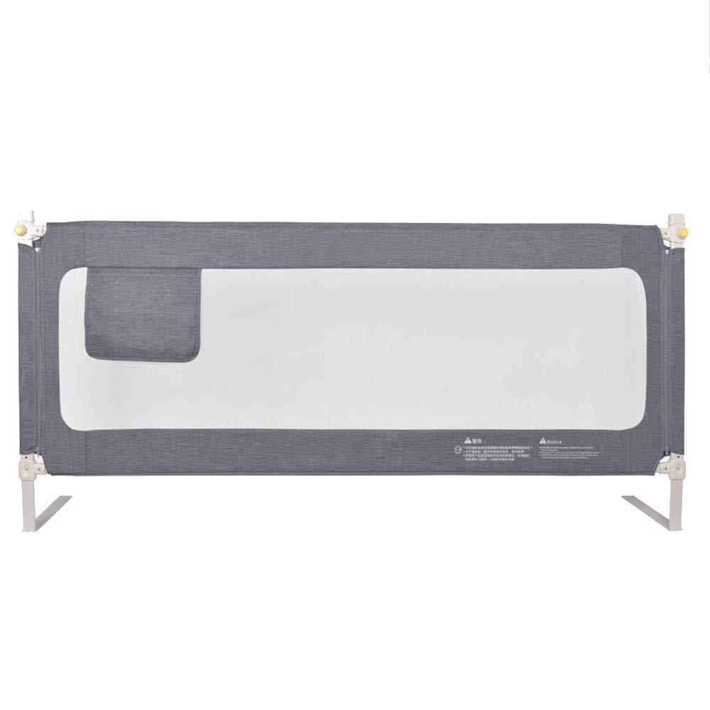 LHA ベッドガードフェンス 垂直リフトベッドフェンスベイビーフェンスアンチフォールズ - サイズオプション (色 : Gray, サイズ さいず : L-200cm) L-200cm Gray B07L2MFZ3Q