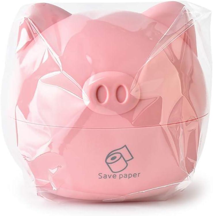pink 1 Pc Tissue Dispenser Box Cute Piggy Design Tissue Boxes Desktop Napkin Holder Cartoon Tissue Paper Storage Case Home Accessories