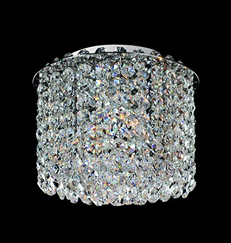 Allegri Lighting 11662-010-FR001 Millieu-Metro 2-Light Flush Mount with Clear Firenze Crystal, Chrome Finish