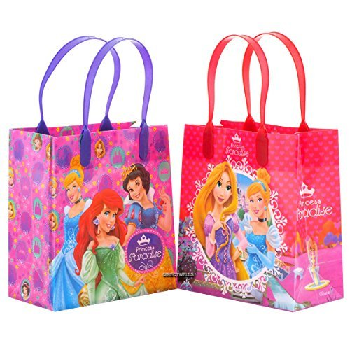 Disney Princess Paradise Reusable Party Favor Goodie Small Gift Bags (12 Bags) -