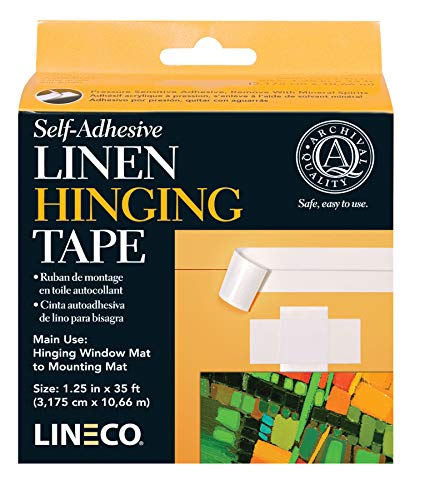 Archival Lineco Material - Lineco Archival Material: Safe Acrylic Self-Adhesive Linen Tape, 1 1/4