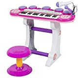 Best Choice Products Musical Kids Electronic Keyboard 37 Key Piano W/ Microphone, Pink
