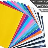 iron on vinyl - Heat Transfer Vinyl for T-Shirts, 16 Pack - 12