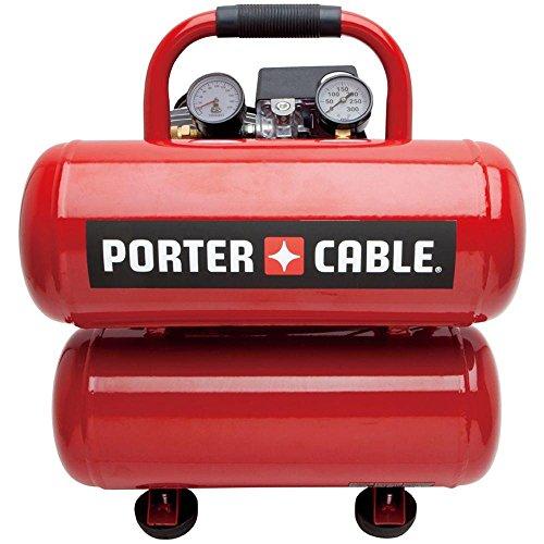 Porter Cable PCFP02040 1.1 HP 4 Gallon Oil-Lube Twinstack...
