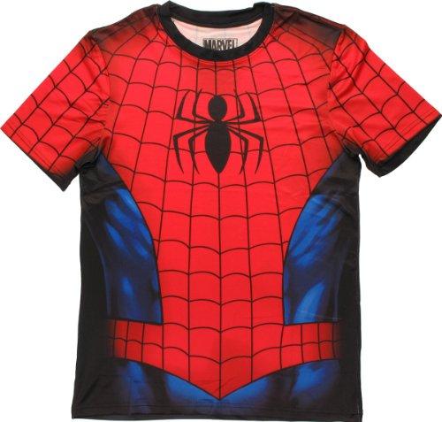 Mad Engine Marvel Comics Spider-Man Performance Athletic Costume T-Shirt (Adult XXX-Large)